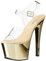 Pleaser USA Women's SKY308/C/GCH Platform Dress Sandal