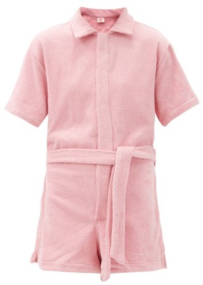 Terry - Il Pareo Belted Cotton-terry Playsuit - Light Pink