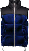 Alexander Wang Quilted satin-paneled cotton-velvet down gilet