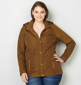 Avenue Fitted Quilted Jacket with Rib Panels