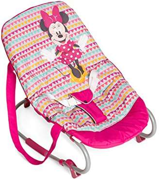 Disney Hauck Rocky, New-Born Baby Bouncer from Birth to 9 kg, Swing Function, Adjustable Backrest, Carry Handles, 3-Point Harness, Tilt-Resistant, Minnie Geo Pink