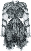Zimmermann side cut-out ruffled dress - women - Silk/Polyester - 1
