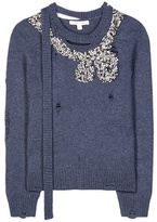 Marc Jacobs Embellished wool and cashmere sweater