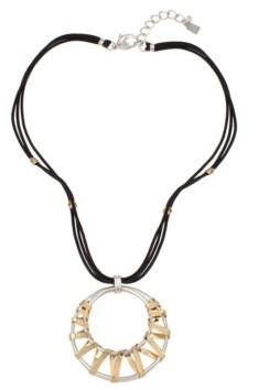 Robert Lee Morris Soho Geometric Wrapped Pendant Necklace