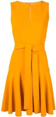 Paule Ka split collar belted dress