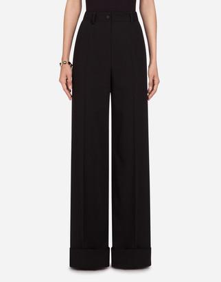 Dolce & Gabbana Woolen Fabric Flare Pants