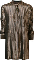 Haider Ackermann three-quarters sleeves metallic shirt - women - Silk/Nylon/Polyester/Wool - 38