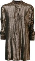 Haider Ackermann three-quarters sleeves metallic shirt - women - Wool/Silk/Nylon/Polyester - 38