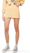 Topshop Women's Corduroy Miniskirt