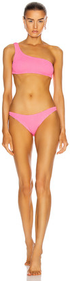 Hunza G Nancy Bikini in Bubblegum | FWRD