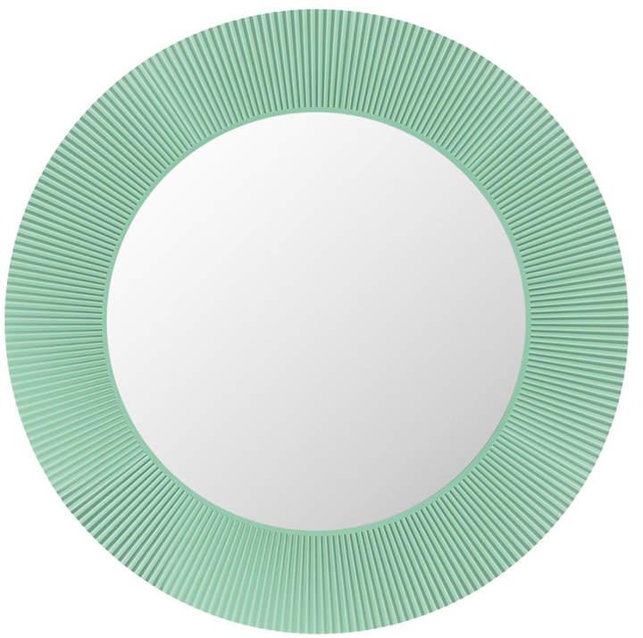 Kartell All Saints Round LED Mirror - Aquamarine Green