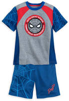 Disney Spider-Man T-Shirt and Reversible Shorts Set for Kids