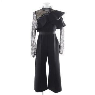 Self-Portrait Black Synthetic Jumpsuits