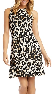 Karen Kane Animal Print A-Line Dress
