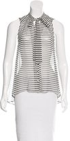 Elizabeth and James Silk Striped Top