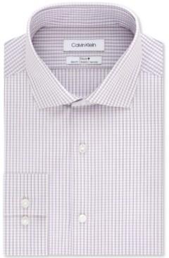 Calvin Klein Men's Slim-Fit Stretch Performance Micro-Check Dress Shirt