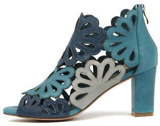 Django & Juliette New Nicky Turquoise Multi Womens Shoes Dress Sandals Heeled