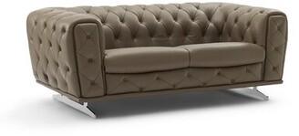 Bloomsburg Leather Loveseat Orren Ellis Upholstery Color: Clove