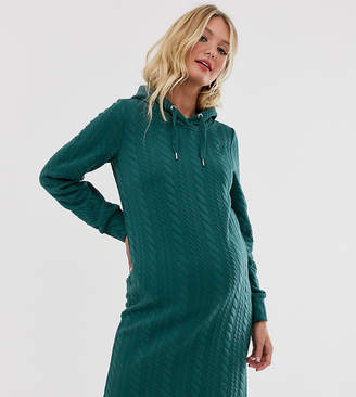 Mama Licious Mama.Licious Mamalicious knit hooded dress-Green