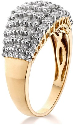 Love Diamond 9ct Gold 1/2 Carat Diamond Total 5 Row Eternity Ring