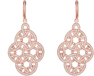 Latelita Celtic Knot Aoife Drop Earring Rose Gold