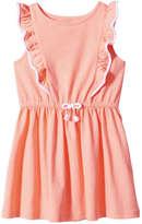Joe Fresh Toddler Girls' Ruffle Dress, Coral (Size 3)