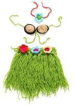 YAN Newborn Hawaiian Hula Skirt Costume Set Toddler Knitted Cloth (3-6 Months)