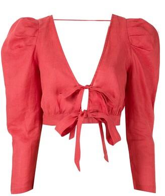 Clube Bossa Mandoline cropped blouse