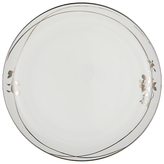 John Lewis Contour Garland Bone China Plate, White/Platinum, Dia.27.5cm