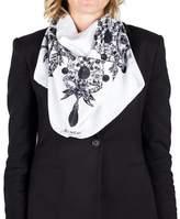 Givenchy Women's Jeweled Pattern Silk Scarf.