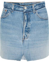 Vetements Patchwork Denim Mini Skirt - Mid denim