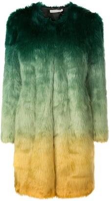 Mary Katrantzou Thalia ombre faux fur coat