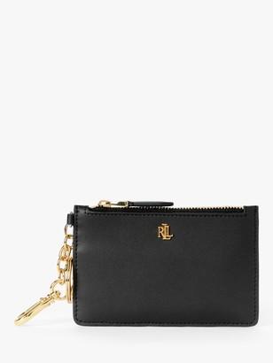 Ralph Lauren Ralph Dryden Leather Zip Card Holder, Black