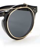 Jeepers Peepers Black Clip Lens Sunglasses*