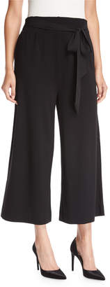 Joan Vass Petite Lightweight Ponte Culotte Pants