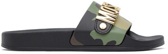 Moschino Multicolor Metallic Logo Slides