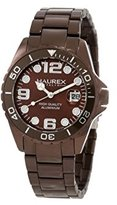 Haurex Italy Women's 7K374DM1 Ink Lady Aluminum Brown Date Watch