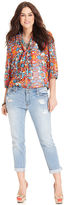 Jessica Simpson Plus Size Jeans, Forever Boyfriend Cropped, Sherman Wash