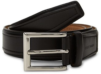 Cole Haan Logo Buckle Slim Belt