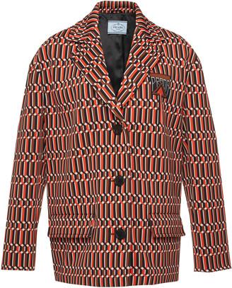 Prada Printed Jaquard Jacket