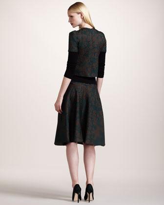 Wes Gordon Leopard-Print Matelasse Skirt