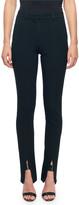 Victoria Beckham Skinny Flat-Front Slit-Cuff Pants