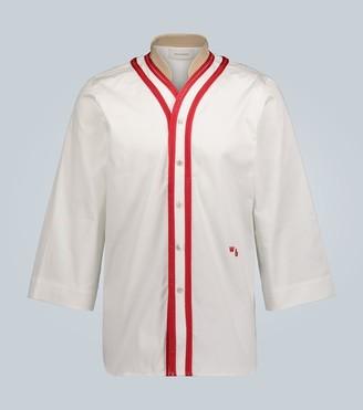 Wales Bonner Lace-trimmed stretch-cotton shirt