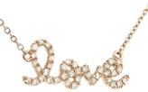 "Sydney Evan Diamond ""Love"" Necklace in Rose Gold"