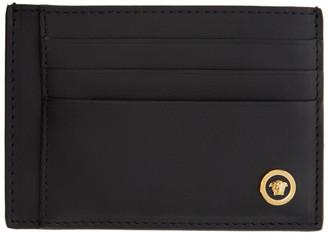 Versace Black Smooth Medusa Card Holder