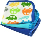 Bed Bath & Beyond iPlay.® Brights 3-Pack Organic Terry Washcloths in Cars/Navy and Blue