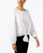 INC International Concepts Tie-Front Top, Only at Macy's