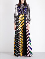 Mary Katrantzou Contrasting-print georgette gown