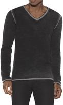 JOHN VARVATOS - Men's Merino Wool V-Neck Sweater - Black