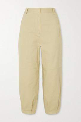 Tibi Cotton-twill Tapered Pants - Yellow